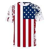 serliy Herren Amerika T-Shirt 3D Creative Print Kurzarm T-Shirt Lässige Grafik Tee Beiläufige Lose Tops
