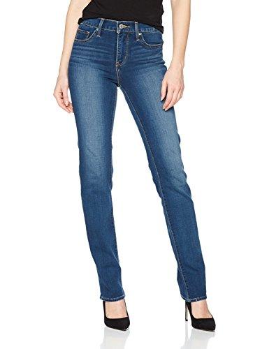 Levi's Damen Jeans 314 Shaping Straight, Blau/Shaker Maker 0054, W27/L32