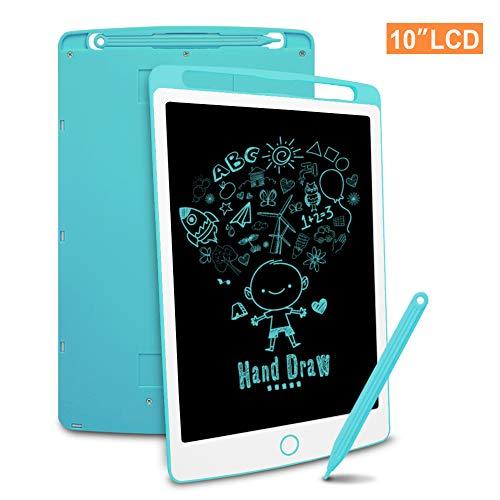 Richgv LCD Writing Tablet mit Anti-Clearance Funktion und Stift, Digital Ewriter Grafiktabletts Mini Schreibtafel Papierlos Notepad Doodle Board (10 Zoll, Blau)