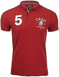 Crosshatch 'Morristown' T-shirt/ Polo à manches courtes - Homme (Noir) M