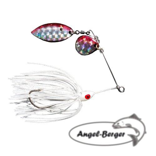 Angel-Berger Spinnerbait 16g Spinner (Glitter Weiß)