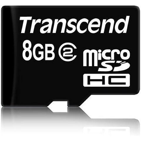 Transcend TS8GUSDC2 - Tarjeta de memoria micro SDHC de 8 GB