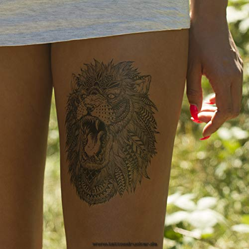 örpertattoo - Lion Tattoo - Einmal Tattoo HB 496 (1) ()