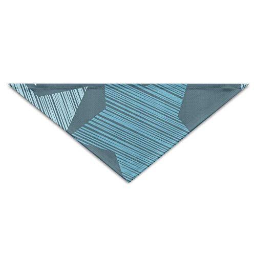 (Rghkjlp Blauer Abstrakter Sternturban-Dreieck-Schal-Schellfisch-Zusatz-Haustier-Schal)