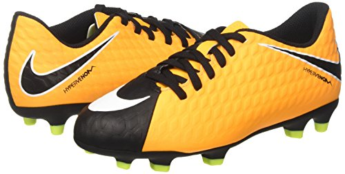 NIKE Unisex Kids  Jr Hypervenom Phade Iii Fg Football Boots   Laser Orange Black Volt   3 5 UK 36 EU