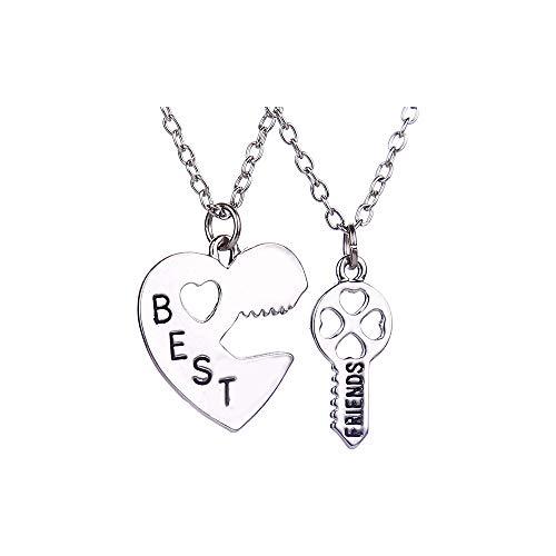 OAONNEA Friendship Best Freunde Liebe und Schlüssel Pendant Halskette BFF Ketten für 2 Mädchen