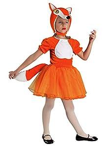 clown republic - Disfraz de Renarde para niña, 57306/06, color blanco