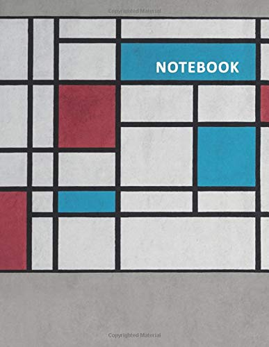College Ruled Notebook: Neo-Plasticism Compact Student Composition Book Daily Journal Diary Notepad for researching mondrian lesson plan middle school Compact-generator