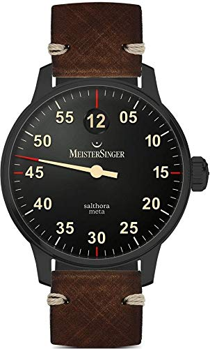 MeisterSinger Salthora Meta Black Line SAM902BL Single Hand Automatic Watch