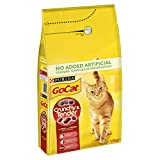 Go-Cat Crunchy and Tender Adult Dry Cat Food with Beef, Chicken and Added Vegetables, 1.5kg
