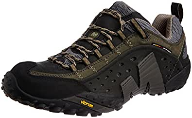 Merrell Men's Smooth Black Leather Trekking and Hiking Footwear Shoes - 7.5 UK