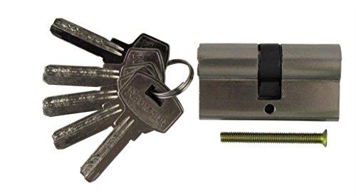 Türzylinder Schließzylinder Zylinderschloss mit 5 Schlüsseln - Länge 30 / 30 mm (1)