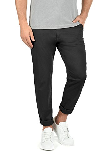 !Solid Machico Herren Chino Hose Stoffhose Mit Gürtel Aus Stretch-Material Regular Fit, Größe:W38/32, Farbe:Black (9000)