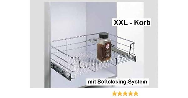Küchenschublade, Teleskopschublade, XXL-Korb, KB 600 mm, Tiefe 500mm ...
