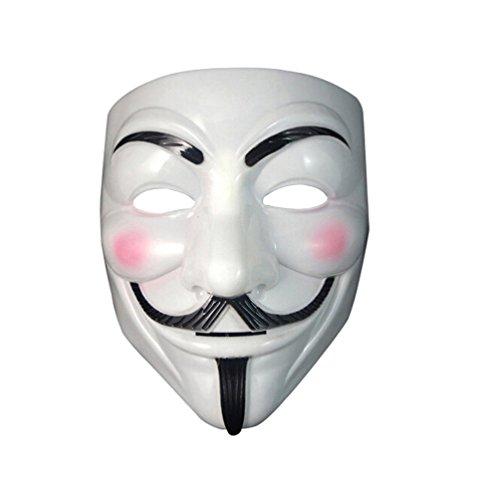 V wie Vendetta Maske anonymous Plastik maske Guy Fawkes für Erwachsene Superheld Halloween Karneval Horror Einheitsgröße Theater (Halloween Für Kostüm Vendetta V)