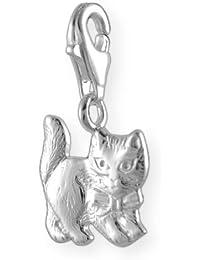 Melina Damen-Charm Anhänger Katze 925 Sterling Silber 1800238