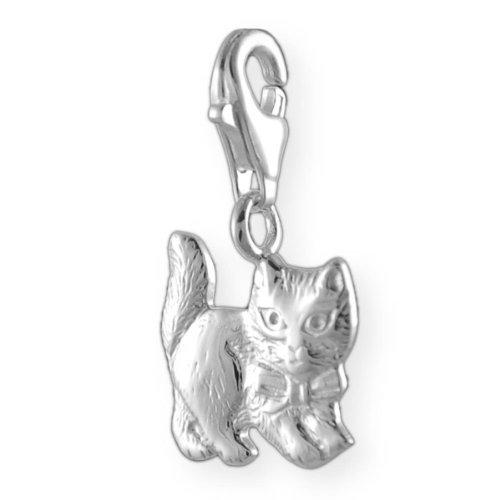 Charm Katze Armband (Melina Damen-Charm Anhänger Katze 925 Sterling Silber 1800238)