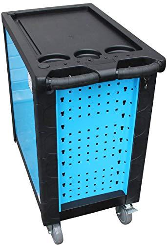 DeTec. Werkstattwagen blue Edition inkl. Werkzeug + GRATIS COB Akku - 4