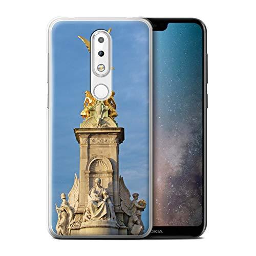eSwish Hülle/Case für Nokia 6 Plus 2018 / Victoria-Denkmal Muster/Seiten London Kollektion