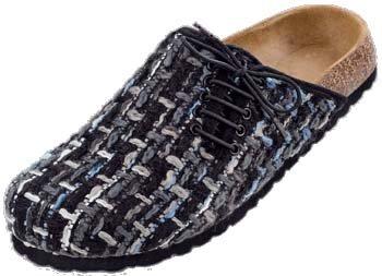 Betula  Nina, chaussure à boucle femme Tweed noir