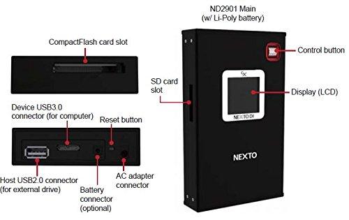 Nexto ND2901 Mobiler Foto Speicher USB 3.0 1.44 Zoll LCD