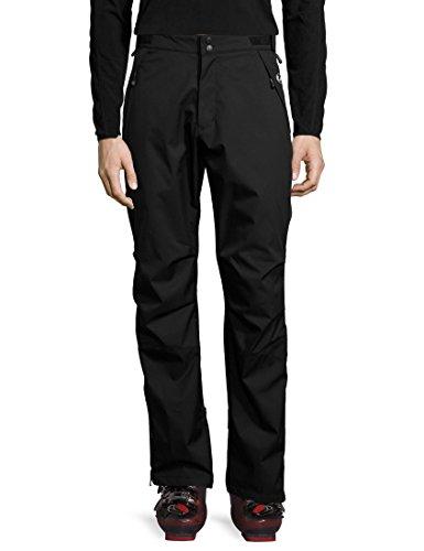 Ultrasport Basic Pantaloni di protezione da uomo outdoor Chris, pantaloni da sci di fondo da uomo, pantaloni da neve, pantaloni da pioggia, nero, L