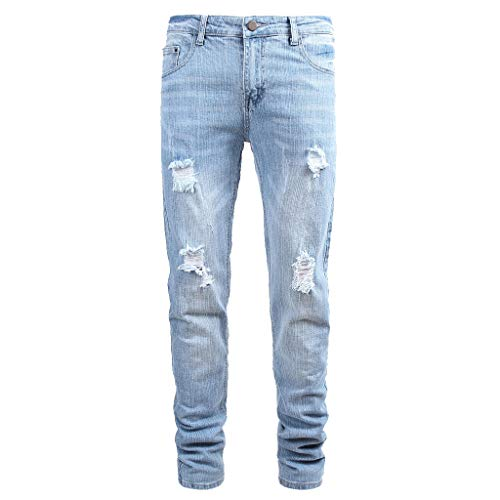 Dwevkeful Lange Hosen Herren Jeans Slim Fit Skinny Stretch Denim Casual Stylischer Jogger Lang Trousers Elastische Sporthose Regular