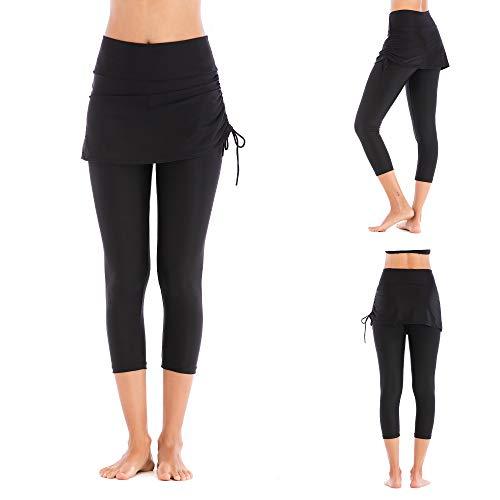 CHCLH Lose und Bequeme Hosen, Strandhosen für modische HosenDünger zugeben, um die Länge der Badehose schwarz L zu erhöhen -