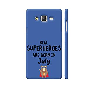 Colorpur Samsung On7 Pro Cover - Real Superheroes Are Born In July Printed Back Case