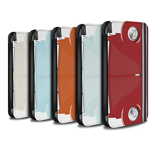 Stuff4 Coque/Etui/Housse Cuir PU Case/Cover pour Apple iPhone SE / Perle Blanche Design / Rétro Coccinelle Collection Pack 9pcs