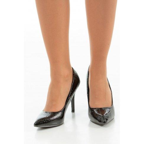 Princesse boutique - Escarpins noir imprimé python Noir
