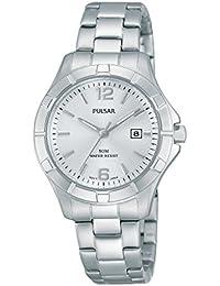 Pulsar Damen-Armbanduhr XS Classic Analog Quarz Edelstahl PH7381X1