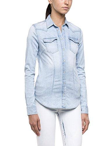 Replay W2786A.000.15A 775 - Chemise Femme Bleu - Blau (Blue Denim 11)