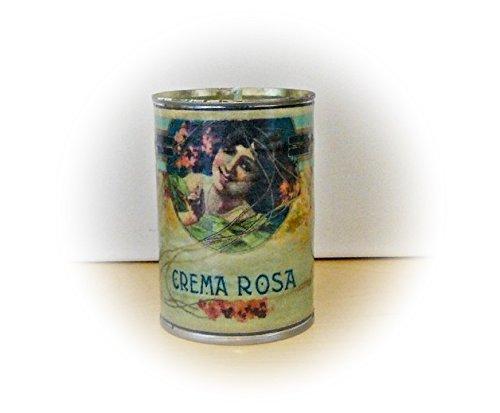 "Kerze in der Dose ""Crema Rosa"" Unikat handmade"