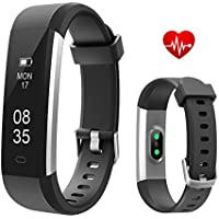 TOOBUR Fitness Armbanduhr, Schmal Wasserdicht Fitness Tracker mit Herzfrequenz Schrittzähler Schlafmonitor und Kalorienzähler, Aktivitätstracker Armband Uhr für Damen Herren und Kinder