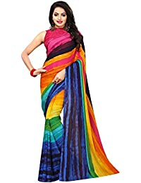 Kanchnar Women's Georgette Printed Saree
