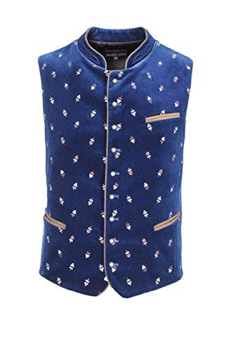 Stockerpoint - Herren Trachten Weste in verschiedenen Farbtönen, Calzado, Größe:64, Farbe:Royale