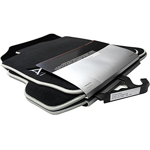 Audi 8X 1061270lmno Textil Zerbino Premium Anteriore/Posteriore Nero/Argento Grigio A1/S14Pezzi