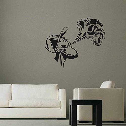 zqyjhkou Tatuajes de pared Hombre Diseño Smog Diseño Creativo Pegatinas de Pared Moda Extraíble Vape Decoración del Hogar Accesorios de Interior Diysy772 50x42 cm