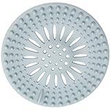 Chinget Silkon Haarsieb für Dusche Badzimmer Abflusssieb Duschsieb Haarfänger (Blau)