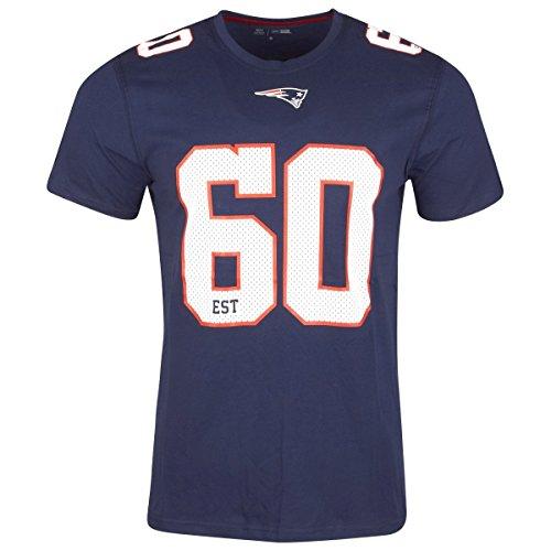 NEW ERA England Patriots - T-Shirt - NFL Number Classic Tee - Navy - L (Classic Navy Logo T-shirt)