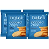 Natch Popped Chips, Never Fried, Naturally Delicious Crisp, Fewer Calories, Gluten Free | Popped Chips - (Variety), 4 x…