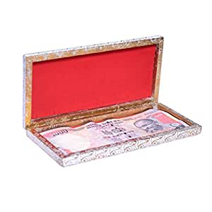 myWoodKart Magnetic Cash Decorative Box / Gift Box Cash Box Gaddi Cover Gaddi Box / Shagun Box/ Wedding gift box