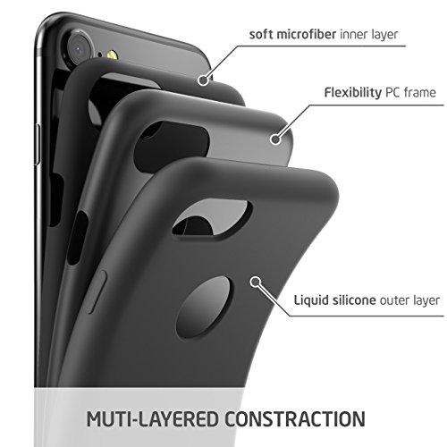 iPhone 7 Hülle, i-Blason Silikonhülle Stoßfest Schutzhülle Silikon Backcover Case für Apple iPhone 7, Grün Grau