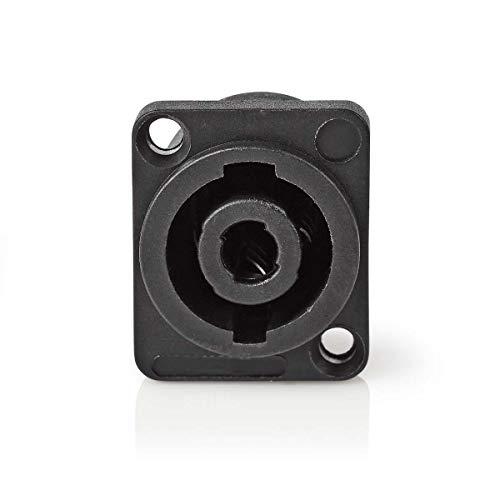 TronicX - Conector para Altavoces (4 Polos, Conector Hembra para Cable Hembra,...