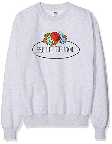 Fruit of the Loom 12202 Herren Sweatshirt - Basic Pullover mit Rundhalsausschnitt & großem Logo-Aufdruck