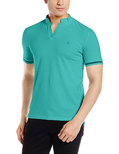 United Colors of Benetton Men\'s Cotton Polo (17P3069J3040I_B39_Blue_XL)