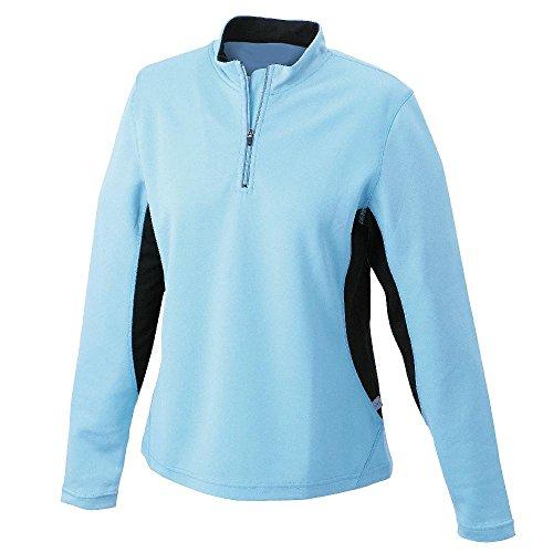 James & Nicholson - Damen Langarm Laufshirt 'Ladies Running Shirt' White/Black