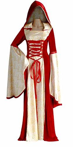 Kostüme Frauen Robin (Deluxe Kostüm BURGFRÄULEIN GELB/ROT Gr.)
