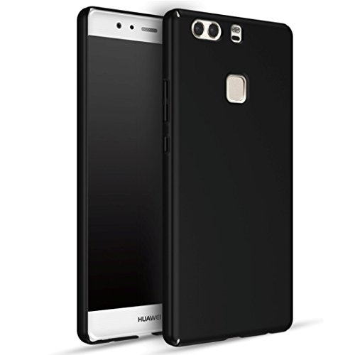 Apanphy Huawei P9 Plus Hülle , Hohe Qualität Ultra Slim Harte Seidig Und Shell Volle Schutz Hinten Haut Fühlen Schutzhülle für Huawei P9 Plus, Schwarz